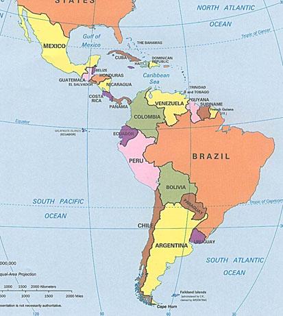 Cartina Muta America Meridionale Riassunto  America