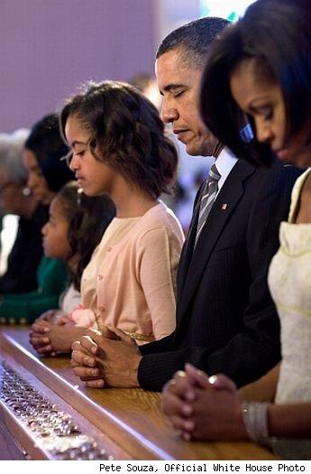 Obama in preghiera