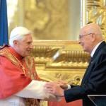 Giorgio Napolitano, l'amicizia con Benedetto XVI e la vera laicità