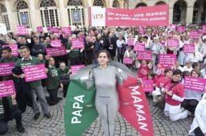 Manifestation contre le mariage et l'adoption pour les couples homosexuels