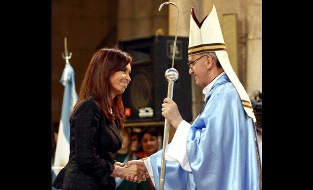 Bergoglio con presidente Argentina