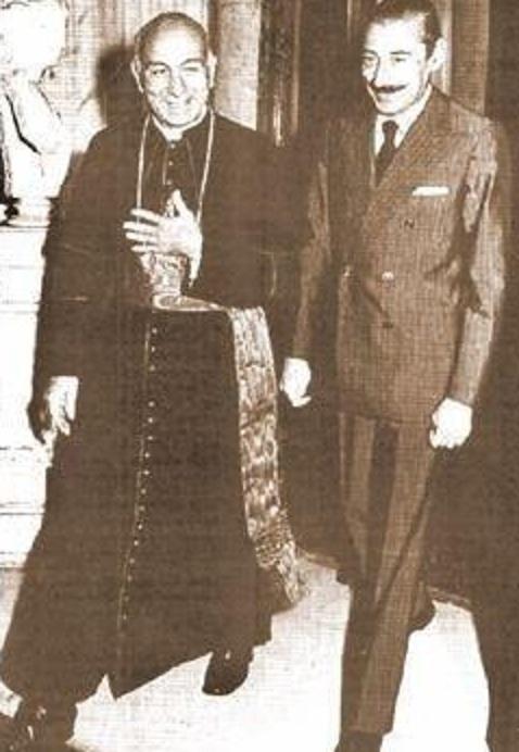 Bergoglio con videla