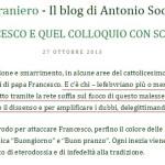 Quando Antonio Socci difendeva Papa Francesco dai «ratzingeriani»