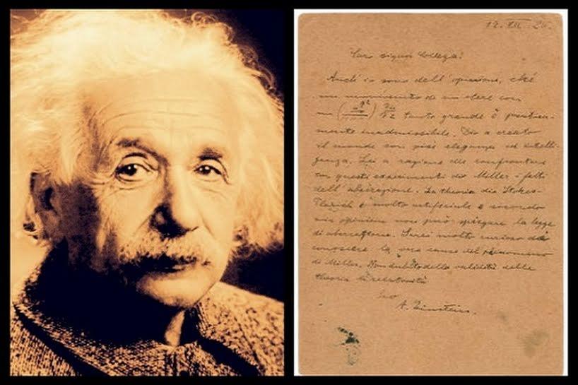 Einstein lettera