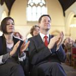 ABC: «Il vicepremier ateo Nick Clegg sulla via della conversione grazie alla moglie»