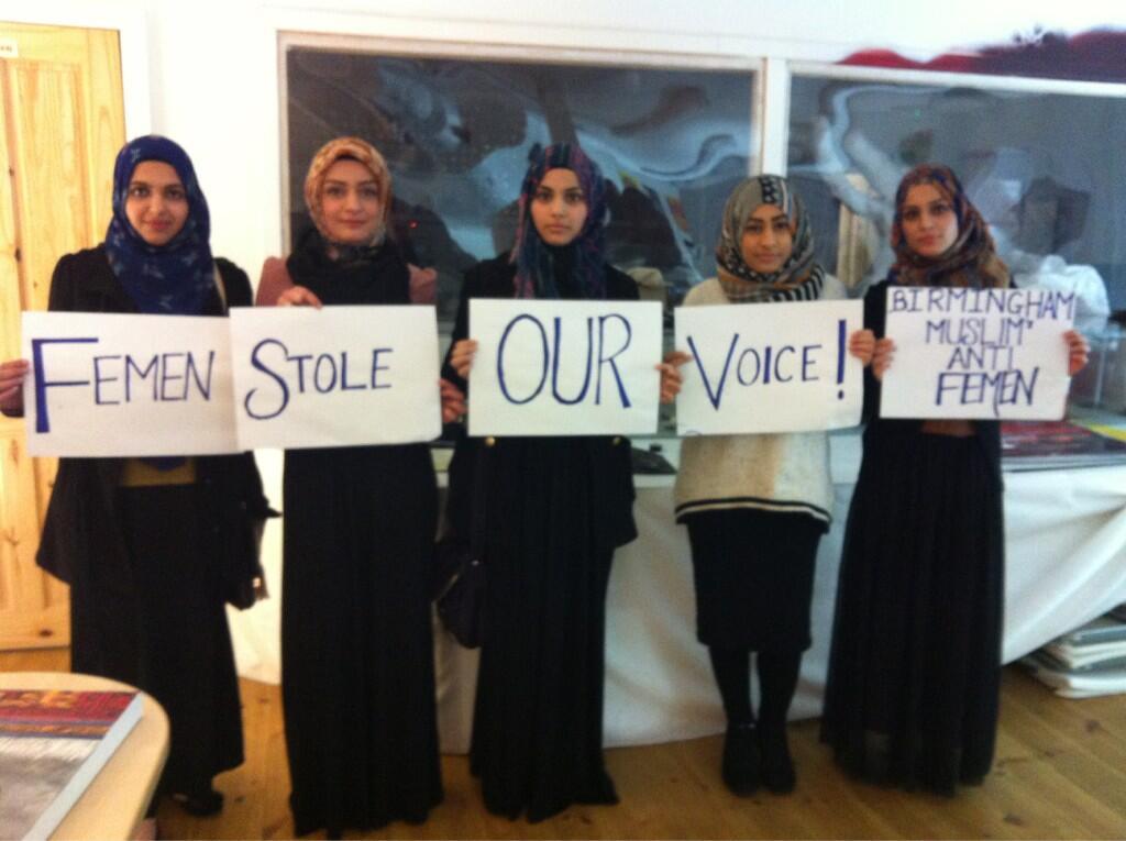 Mussulmane contro femen