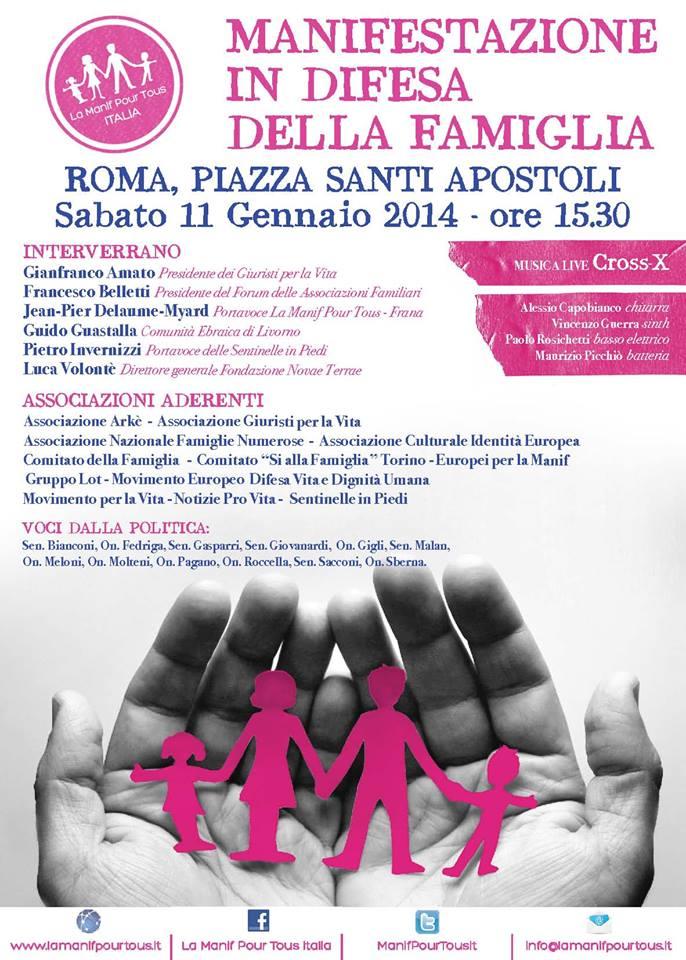 Volantino Manifestazione Roma