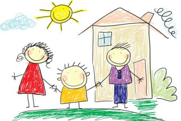 Famiglia disegno