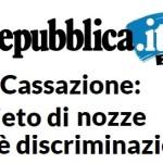 Cassazione: «le nozze gay non sono un diritto, vietarle non è discriminatorio»