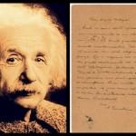 La lettera di Albert Einstein: «la scienza conduce ad uno spirito immensamente superiore»