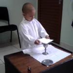 Il bimbo malato di tumore con il sogno di celebrare la Messa