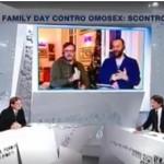 Su La7 frase shock della coppia gay: «La madre? Non serve, è un concetto antropologico»