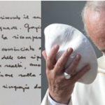 Il Papa scrive ad Antonio Socci: l'abbraccio di Francesco ad un fratello in difficoltà