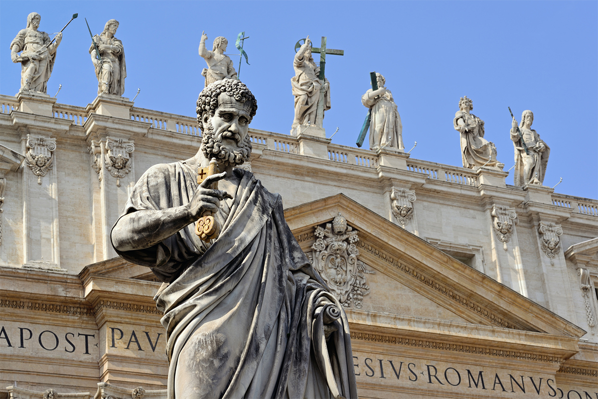 Statue of St. Peter, St. Peter's Square, Vatican, Rome