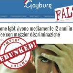 Stigma sociale causa suicidi gay? Studio smascherato – debunked
