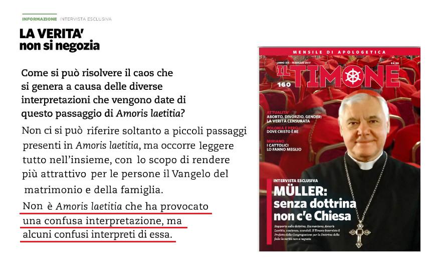 """9e85e4bf02fb Il card. Müller a """"Il Timone""""  «Non è Amoris Laetitia ad aver creato ..."""
