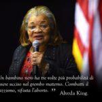 La nipote di Martin Luther King: «se rifiuti il razzismo, combatti l'aborto»