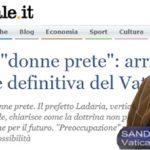 """Donne prete: """"no"""" definitivo del Vaticano, delusione per Sandro Magister"""