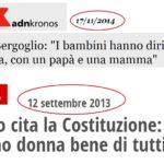 Il Papa: «famiglia solo tra uomo e donna». Ecco come reagiranno polemisti e falsi adulatori…