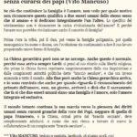 Il ritorno di Vito Mancuso, ma inciampa nei soliti errori progressisti