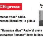 «Bergoglio difende Humanae Vitae»: Sandro Magister si arrende alla verità.