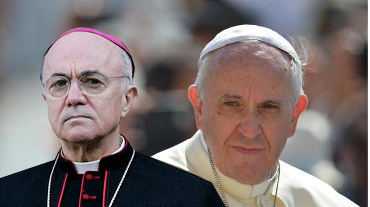 Risultati immagini per immagine di papa francesco e mons.Viganò