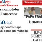 """Ma la lobby gay odia Bergoglio: """"omofobo"""", """"medievale"""", """"retrivo"""""""