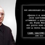 Cambia il Padre Nostro, una modifica approvata dal card. Giacomo Biffi